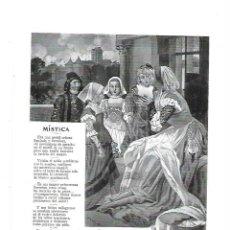 Coleccionismo: AÑO 1913 RECORTE PRENSA POESIA MISTICA POR JOSE MONTERO DIBUJO DE ESPI ILUSTRACION. Lote 168758892