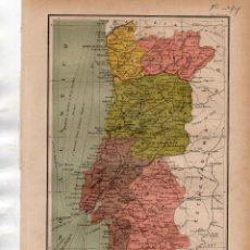 Coleccionismo: LÁMINA SALVAT - PORTUGAL - FERROCARRILES,CABLES ETC.. Lote 168844896