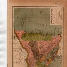 Coleccionismo: LÁMINA SALVAT - PLANO DE NICARAGUA. Lote 168846336