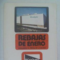 Coleccionismo: HOJA DE REVISTA CON ANUNCIO PUBLICITARIO DE EL CORTE INGLES. AÑOS 70. Lote 226606450