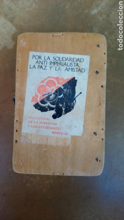 Coleccionismo: Antigua y original caja de madera del partido comunista de salamanca, varios marcajes - Moscu 85 - Foto 2 - 169387436