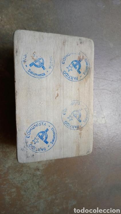 Coleccionismo: Antigua y original caja de madera del partido comunista de salamanca, varios marcajes - Moscu 85 - Foto 4 - 169387436