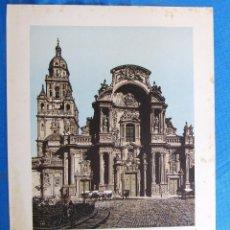 Coleccionismo: LÁMINA CON LA IMAGEN DE LA CATEDRAL, MURCIA. DE LAS MARAVILLAS DE ESPAÑA. 1910'S.. Lote 169575420