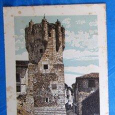 Coleccionismo: LÁMINA CON LA IMAGEN DE LA TORRE DEL CLAVERO, SALAMANCA. DE LAS MARAVILLAS DE ESPAÑA. 1910'S.. Lote 169575588