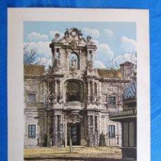 Coleccionismo: LÁMINA CON LA PORTADA DEL PALACIO DE SAN TELMO, SEVILLA. DE LAS MARAVILLAS DE ESPAÑA. 1910'S.. Lote 169575872