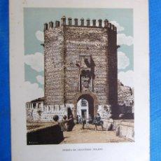 Coleccionismo: LÁMINA CON LA IMAGEN DE LA PUERTA DE ALCÁNTARA, TOLEDO. DE LAS MARAVILLAS DE ESPAÑA. 1910'2.. Lote 169576084