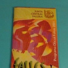 Coleccionismo: PROGRAMA OFICIAL FALLAS 2001. JUNTA CENTRAL FALLERA. Lote 169705232