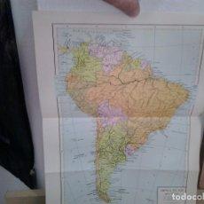 Coleccionismo: LMV - LAMINA, MAPA DE AMÉRICA DEL SUR, MAPA POLÍTICO, 25X34 CM. Lote 169711420