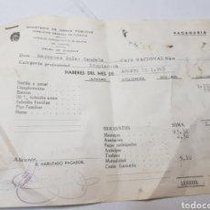 Coleccionismo: PAGADURIA AÑO 1965. Lote 169737962