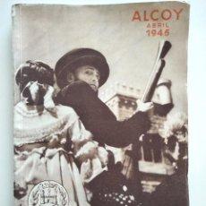 Coleccionismo: ALCOY (ALICANTE) - PROGRAMA FIESTAS DE MOROS Y CRISTIANOS EN HONOR DE SAN JORGE MARTIR AÑO 1945. Lote 169748960