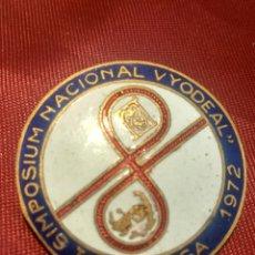 Coleccionismo: I SIMPOSIUM NACIONAL VYODEAL 1972 MALAGA. Lote 169817992