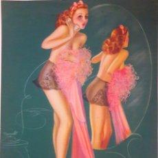 Coleccionismo: ANTIGUA LÁMINA PIN UP FIRMADA BILLY DEVORSS AÑO 1941. NUMERADA. Lote 169934806