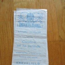 Coleccionismo: PROGRAMA DE TEATRO. TEATRO INFANTA ISABEL. CAROLINE SE HA PERDIDO. ARTURO SERRANO. JOSE OSUNA.. Lote 169966476