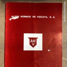 Coleccionismo: ALTOS HORNOS DE VIZCAYA, S.A. CONVENIO COLECTIVO AÑOS: 1989 - 1990.. Lote 169970238
