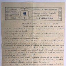 Coleccionismo: INFANTES (CIUDAD REAL) CARTA ESCRITO. NOTIFICANDO LOS GASTOS DE UNA PROPIEDAD MINERA (A.1924). Lote 169983022