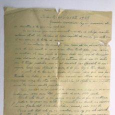 Coleccionismo: INFANTES (CIUDAD REAL) 3 CARTAS ESCRITOS. NOTIFICANDO LOS GASTOS DE UNA PROPIEDAD MINERA (A.1924). Lote 169984502