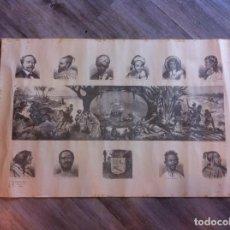 Coleccionismo: LÁMINA TIPOS DE RAZAS (CAUCÁSICA, MOGOLA, ...)NUEVO MUNDO HALLÓ COLÓN. CASTILLA RENO EDICIONES. Lote 170077892