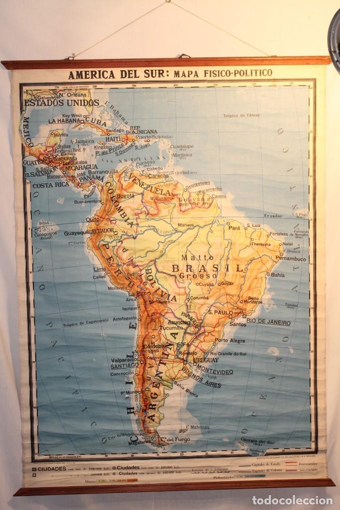 Coleccionismo: LITOGRAFÍA AMÉRICA DE SUR, LITOGRAFÍA, DE AGOSTINI 1937 - Foto 2 - 170085512