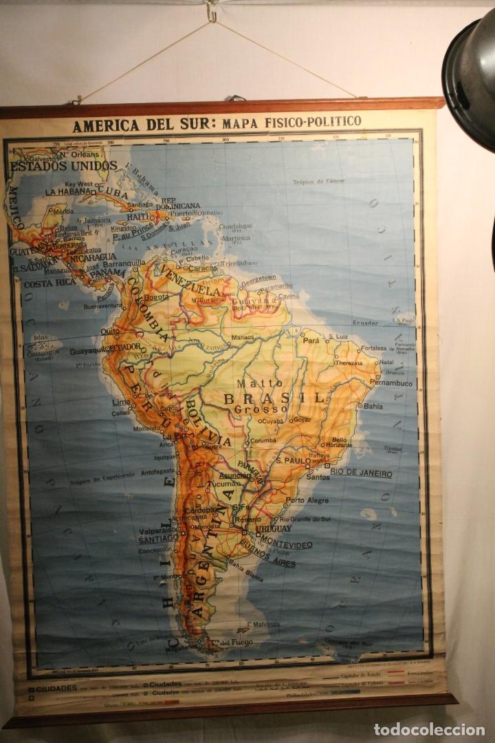 LITOGRAFÍA AMÉRICA DE SUR, LITOGRAFÍA, DE AGOSTINI 1937 (Coleccionismo - Laminas, Programas y Otros Documentos)