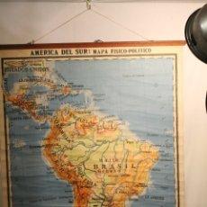 Coleccionismo: LITOGRAFÍA AMÉRICA DE SUR, LITOGRAFÍA, DE AGOSTINI 1937. Lote 170085512