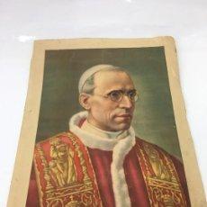 Coleccionismo: ANTIGUA LAMINA DE PAPA PIO XII MEDIDAS 19,20 X 28 CMS.SIN MARCO . Lote 170107000