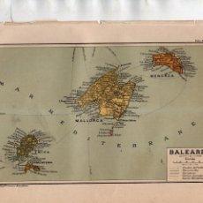 Coleccionismo: ANTIGUA LÁMINA SALVAT .- BALEARES - CAMINOS MUNICIPALES - ETC. Lote 170378004