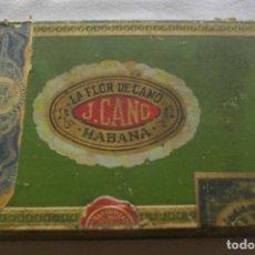 Coleccionismo: CAJA DE PUROS HABANOS - CUBA FLOR DE CANO - 25 PETIT CEDROS ESP ( PRE/ EMBRGO) VACIA - COLCCI. Lote 170412780