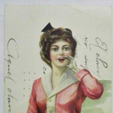 Coleccionismo: CARTA FELICITACION TROQUELADA, MARZO 1917. Lote 170434312