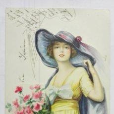 Coleccionismo: CARTA FELICITACION TROQUELADA, 27 DE FEBRERO 1917. Lote 170434464