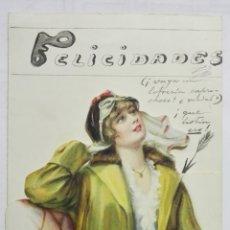 Coleccionismo: CARTA FELICITACION TROQUELADA, AÑO 1917. Lote 170434716