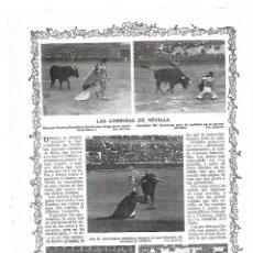 Coleccionismo: AÑO 1913 FERIA SEVILLA CORRIDA TOROS RICARDO TORRES BOMBITA COCHERITO DE BILBAO GALLITO GALLO. Lote 170451976