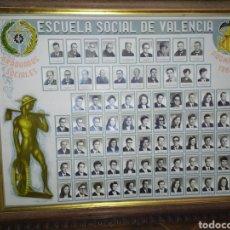 Coleccionismo: ESCUELA SOCIAL DE VALENCIA GRADUADOS SOCIALES PROMOCION 1967 1970 CUADRO GRANDE. Lote 170816453