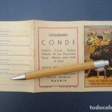 Coleccionismo: PROGRAMA DE MANO TOROS MADRID SAN ISIDRO 1960. Lote 170861315