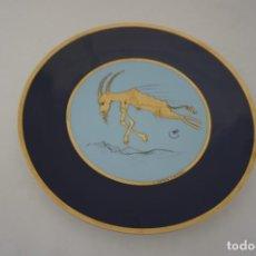 Colecionismo: PLATO PORCELANA CREADA POR SALVADOR DALI CON TIRADA 5000 EJEMPLARES HOROSCOPO CAPRICORNIO. Lote 210061901