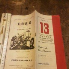 Coleccionismo: PROGRAMA FIESTAS SAN ANTONIO DE PADUA. Lote 171149154