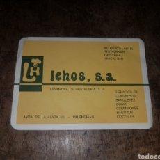 Coleccionismo: FOLLETO PUBLICITARIO LEHOS. LEVANTINA DE HOSTELERÍA. VALENCIA.. Lote 171173543