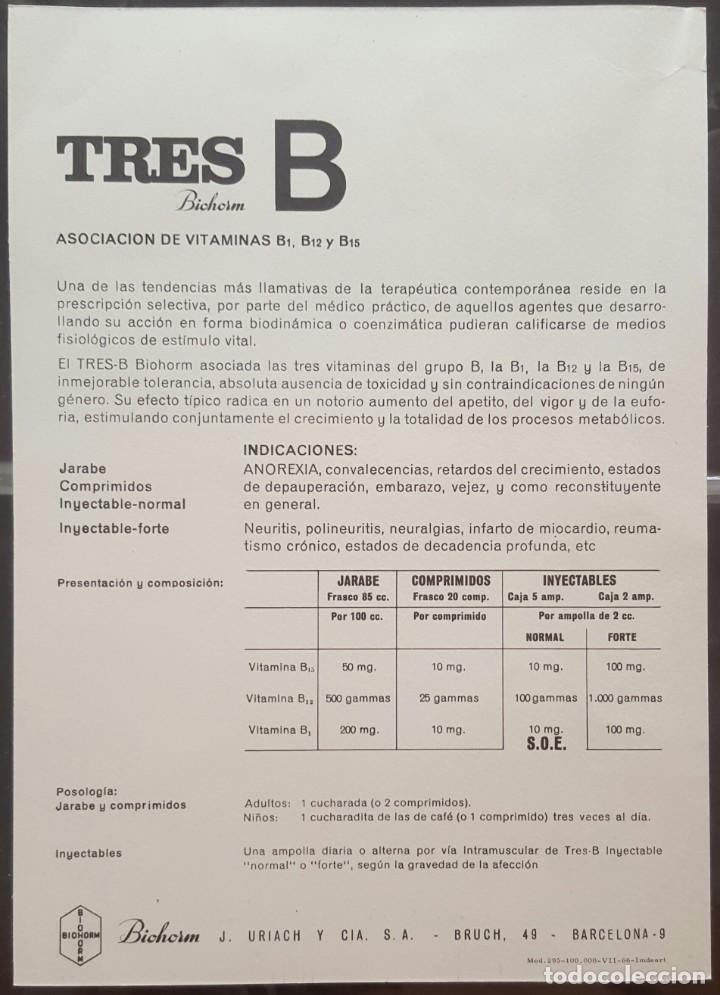 Coleccionismo: Folleto tres-B biohorm - Foto 2 - 171228818
