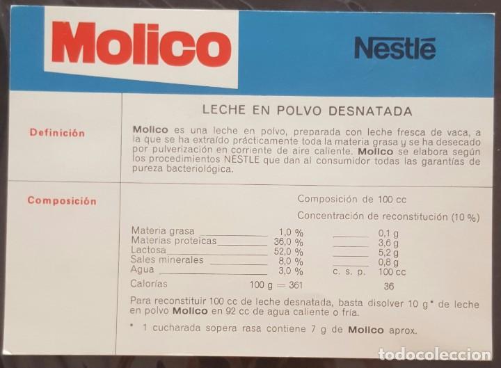 FOLLETO MOLICO NESTLÉ (Coleccionismo - Laminas, Programas y Otros Documentos)