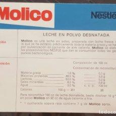 Coleccionismo: FOLLETO MOLICO NESTLÉ . Lote 171229375