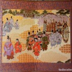 Coleccionismo: BIOMBO JAPÓN TELA BORDADO. Lote 171312142