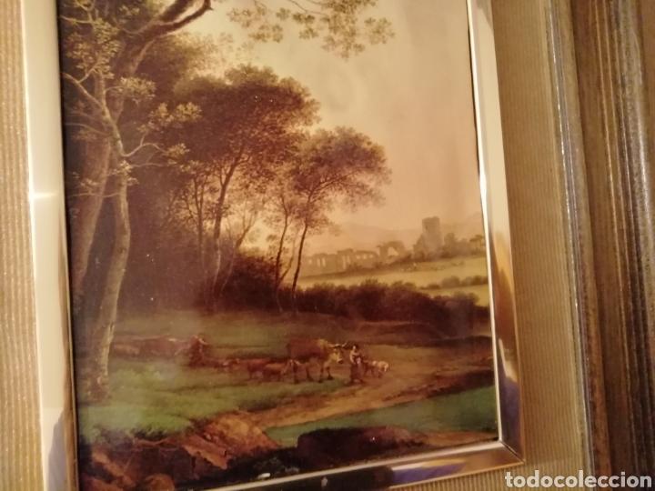 Coleccionismo: paisaje en relieve. Embellecido y con marco final - Foto 2 - 171373615
