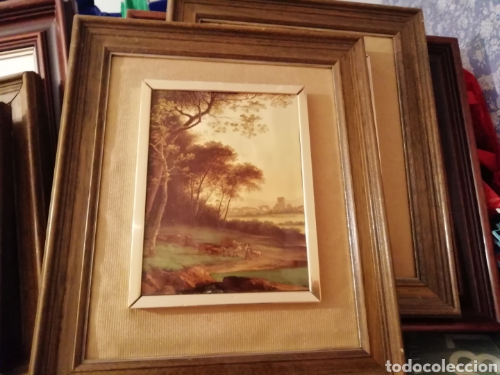 Coleccionismo: paisaje en relieve. Embellecido y con marco final - Foto 3 - 171373615