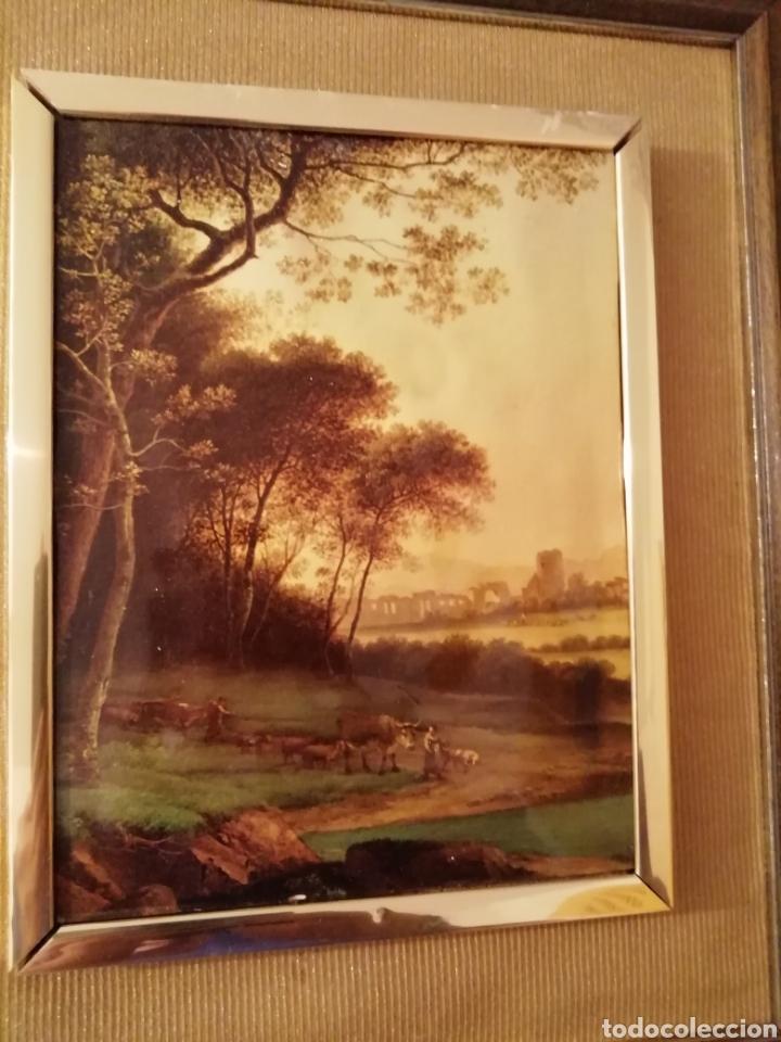 Coleccionismo: paisaje en relieve. Embellecido y con marco final - Foto 4 - 171373615