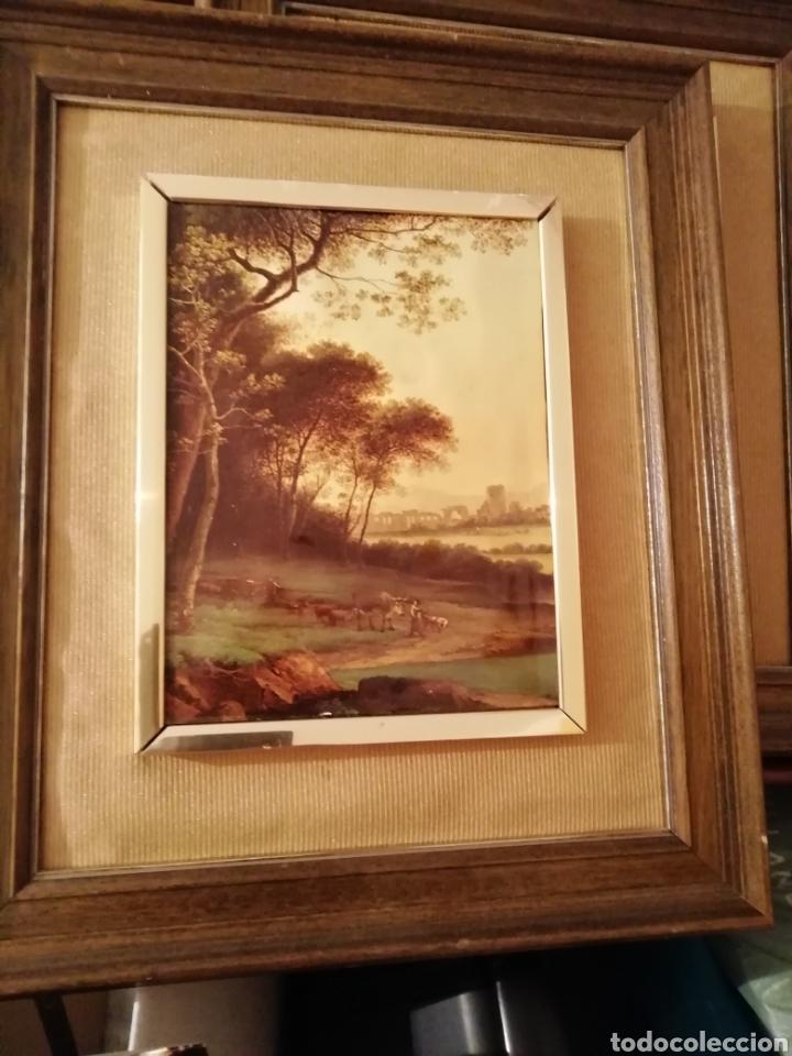 Coleccionismo: paisaje en relieve. Embellecido y con marco final - Foto 5 - 171373615