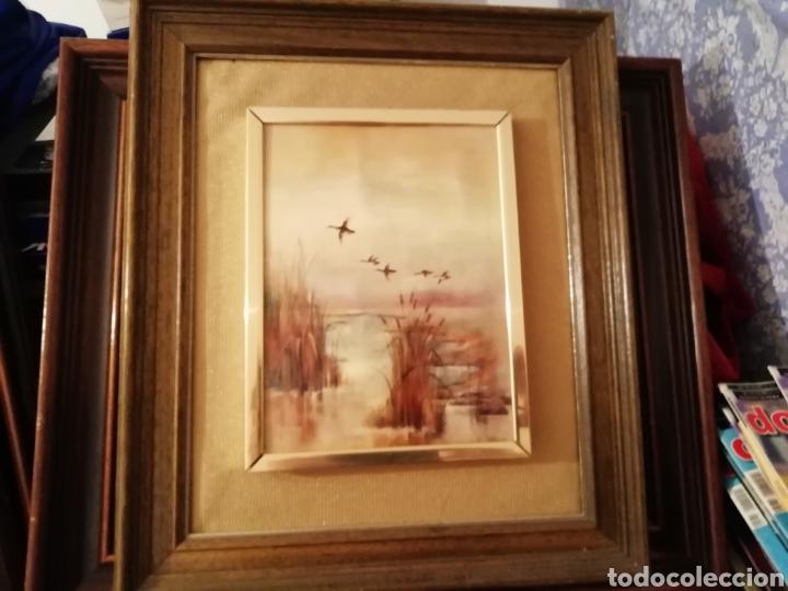 Coleccionismo: paisaje abierto. Cuadro Embellecido y remate con marco. - Foto 2 - 171373677