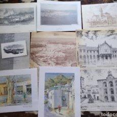 Coleccionismo: LOTE LÁMINAS Y GRABADOS DE ALMERÍA. LA VOZ DE ALMERÍA.. Lote 171434145