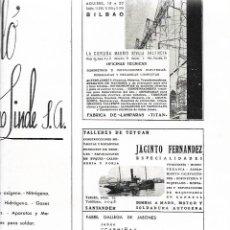 Coleccionismo: AÑO 1939 PUBLICIDAD DE EGUREN BILBAO TALLER TETUAN JACINTO FERNANDEZ JABON SAN JUSTO MOLLABAO PONTE. Lote 171444273