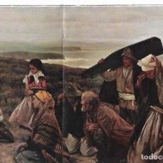 Coleccionismo: AÑO 1928 PINTURA LAMINA REPRODUCCION COSTUMBRES ASTURIANAS LA ROGATIVA VENTURA ALVAREZ SALA. Lote 171448495
