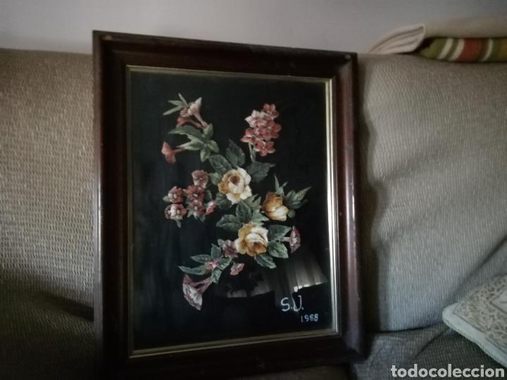 Coleccionismo: Cuadro de flores S. J. 1988. FLORES ENTRELAZADAS - Foto 6 - 171453625