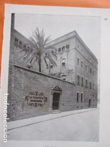 Foto Recorte Año 1929 Barcelona Casa Del Arcediano Trasera Terraza Casa Dela Arcediando